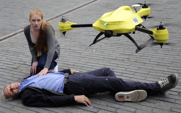 脑洞大开:荷兰人的新思路救护无人机