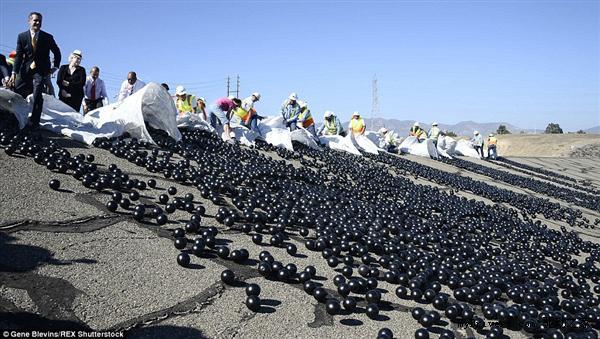 洛杉矶水库撒入近1亿个黑球:太神了