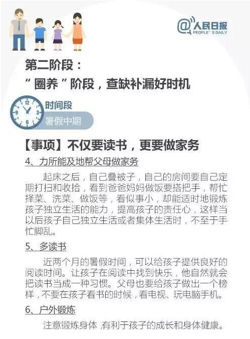 7.11人民日报特别发文:孩子暑假作息时间表最新公布,家长快收!只发一次!还不快收