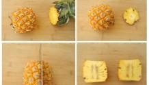2分钟快速切菠萝