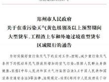 郑州首发空气污染红色预警!三类车辆限行!幼儿园停课,中小学停止户外活动!