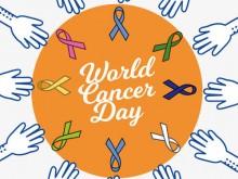 """第21届世界癌症日,主题为""""关爱患者,共同抗癌"""""""